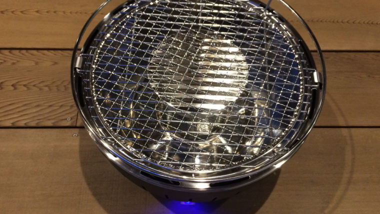 無煙炭火ロータスグリル|100均の網を重ねる