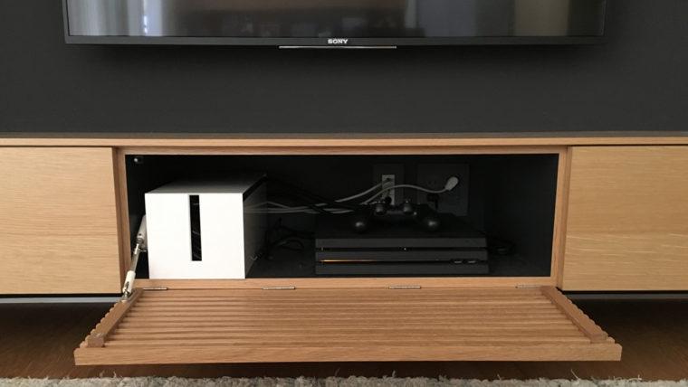 テレビボード-壁内配線